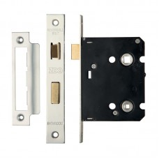 Zoo Hardware - Bathroom Door Lock 76mm Case 57mm Bkst SS - ZBC76SS