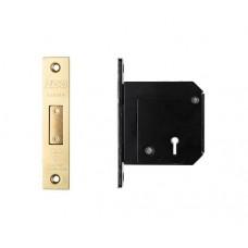 BS 5L Roller Dead Door Lock Chubb Retro Fit 80mm PVD Gold