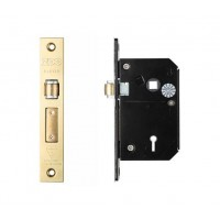 BS 5L Roller Sash Door Lock 67mm PVD Gold