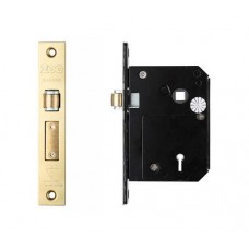 BS 5L Roller Sash Door Lock 80mm PVD