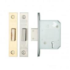 "Zoo Hardware - British Standard 5 Lever Door Dead Lock 2.5"" or 3"" Forend Option ZBSD--"