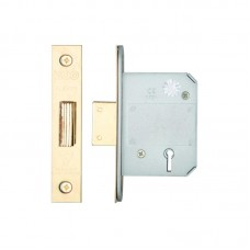 Zoo Hardware - BS 5L Dead Door Lock 64mm 44.5mm Bkst KA PVD - ZBSD64PVDKA