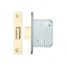 Zoo Hardware - BS 5L Dead Door Lock 64mm 44.5mm Bkst PVD - ZBSD64PVD