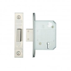 Zoo Hardware - BS 5L Dead Door Lock 64mm 44.5mm Bkst SS - ZBSD64SS