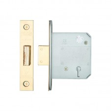 BS 5L Dead Door Lock 76mm 57mm Bkst KA PVD