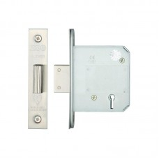 Zoo Hardware - BS 5L Dead Door Lock 76mm 57mm Bkst SS - ZBSD76SS