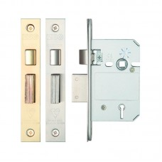 "Zoo Hardware - British Standard 5 Lever Sash Door Lock 2.5"" or 3"" Finish Option ZBSS"