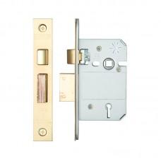 Zoo Hardware - British Standard 5L Sash Door Lock 64mm 44.5mm Bkst KA PVD - ZBSS64PVDKA