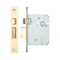 British Standard 5L Sash Door Lock 76mm 57mm Bkst KA PVD