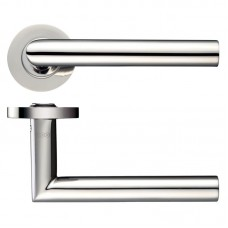 Mitred Lever Door Handle Push on Rose 19mm Dia. PS