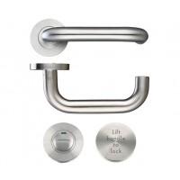 Lift to Lock RTD Door Handle Set 19mm Dia. 304 SS