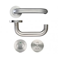 Lift to Lock RTD Door Handle Set 19mm Dia. 304 SS