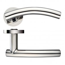 Arched T-Bar Door Handle Push on Rose 304 PS