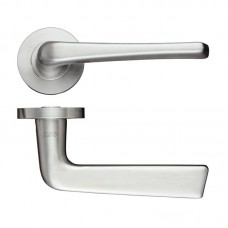 Straight Stainless Steel Door Handle Push on Rose 304 SS