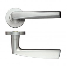 Flared Stainless Door Handle Push on Rose 304 SS
