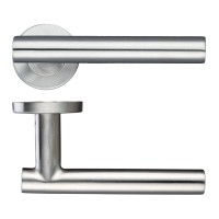 Straight T-Bar Lever - Push on Rose 19mm Dia. SS