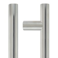 Guardsman Door Pull Handle 22mm Dia. x 300mm 304 SS