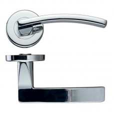 Toledo Lever Door Handle Push on Rose  CP