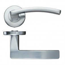 Toledo Lever Door Handle Push on Rose SC
