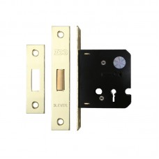 Zoo Hardware - 3L Door Dead Lock 67.5 Case 44.5mm Bkst EB - ZDC364EB