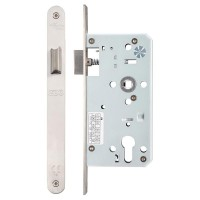 Din Door Latch Radius 55mm Bkst SS