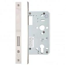 Zoo Hardware - Din Euro Dead Door Lock 55mm Bkst SS - ZDL0055SS