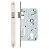 Din Door Latch Radius 60mm Bkst SS