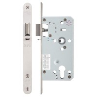 Din Night Door Latch 72mm c/c Radius 55mm Bkst SS
