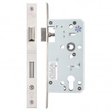 Zoo Hardware - Din Sash Door Lock 72mm c/c 55mm Bkst SS - ZDL7255SS