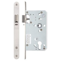Din Night Door Latch 72mm c/c Radius 60mm Bkst SS