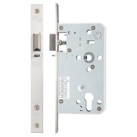 Din Night Door Latch 72mm c/c 60mm Bkst SS