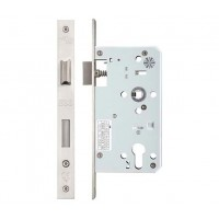 Din Single Throw Sash Door Lock 72mm c/c 60mm Bkst SS