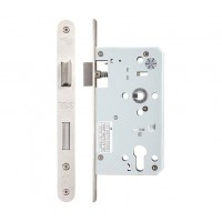 Din Single Throw Sash Door Lock 72mm c/c Radius 60mm Bkst SS