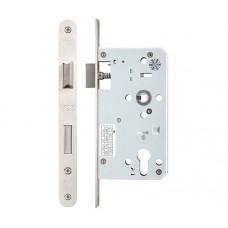 Zoo Hardware - Din Single Throw Sash Door Lock 72mm c/c Radius 60mm Bkst SS - ZDL7260STRSS