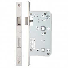Zoo Hardware - Din Bathroom Door Lock 78mm c/c 55mm Bkst SS - ZDL7855SS