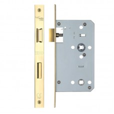 Din Bathroom Door Lock 78mm c/c 60mm Bkst PVD Gold