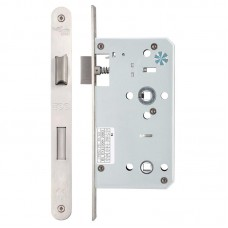 Din Bathroom Door Lock 78mm c/c Radius 60mm Bkst SS