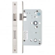 Din Bathroom Door Lock 78mm c/c 60mm Bkst SS