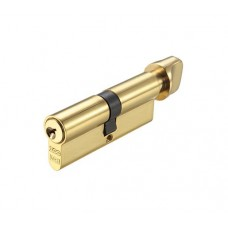 Euro Door Cylinder and Turn V5 Polished Brass