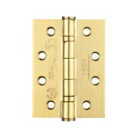 "Ball Bearing Door Hinge Pair & Half 4 x 3"" 201 SS PVD Gold"