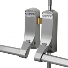 Exidor - Double Fire Door Panic Bar Sets for Rebated Doors Silver - ZPH285