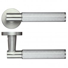 Athena Door Handle Screw on Rose 304 SS