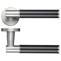 Eros Door Handle Screw on Rose 304 SS