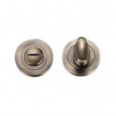 Zoo Hardware - Bathroom Door Turn & Release 50mm Diameter Florentine Bronze ZPZ004FB