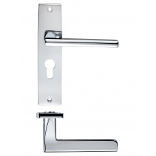 Venice Lever Euro Lock Door Handle 43 x 180mm CP