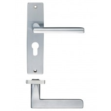 Venice Lever Euro Lock Door Handle 43 x 180mm SC