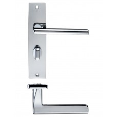 Venice Lever Bathroom Door Handle 43 x 180mm CP