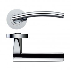 Amalfi Door Handle Screw on Rose  CP