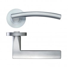 Amalfi Door Handle Screw on Rose  SC