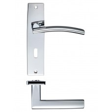 Amalfi Lock Door Handle 43 x 180mm CP
